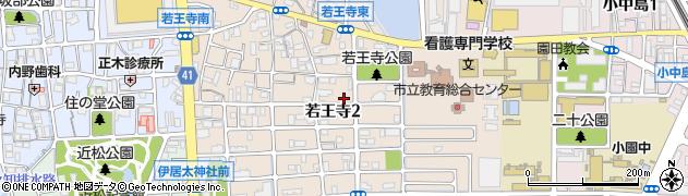 兵庫県尼崎市若王寺周辺の地図