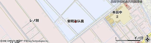 愛知県豊橋市牟呂町(東明治圦裏)周辺の地図
