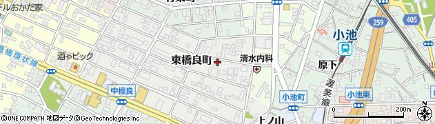 愛知県豊橋市東橋良町周辺の地図
