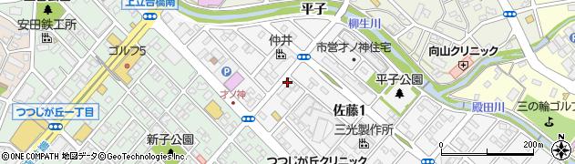 てつ家周辺の地図