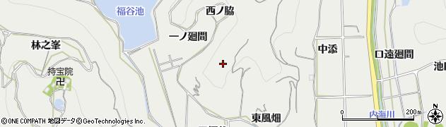 愛知県南知多町(知多郡)内海(西ノ脇)周辺の地図