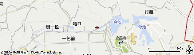 愛知県南知多町(知多郡)内海(亀口)周辺の地図