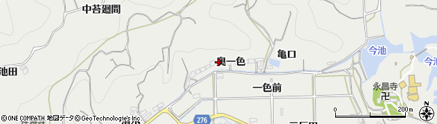 愛知県南知多町(知多郡)内海(奥一色)周辺の地図