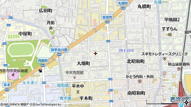 〒662-0836 兵庫県西宮市大畑町の地図