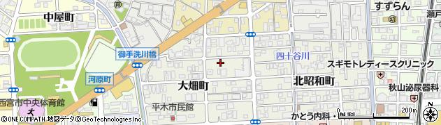 兵庫県西宮市大畑町周辺の地図
