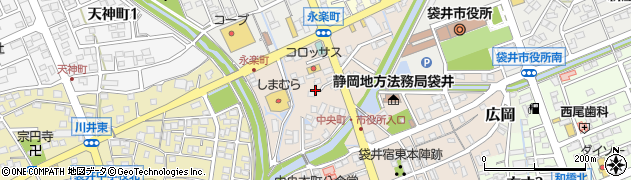 静岡県袋井市永楽町周辺の地図