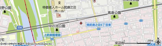 兵庫県尼崎市南武庫之荘6丁目周辺の地図