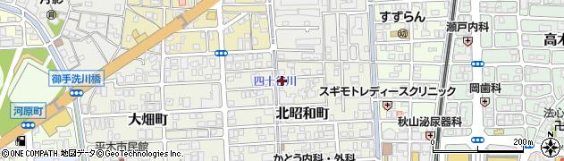 兵庫県西宮市北昭和町周辺の地図