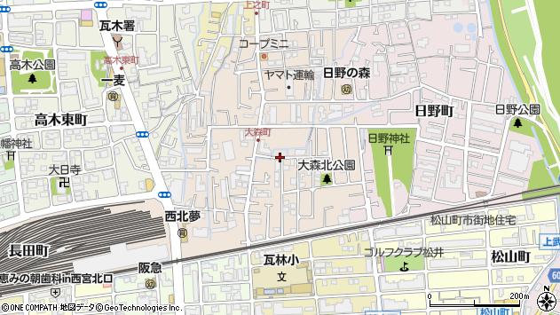 〒663-8023 兵庫県西宮市大森町の地図