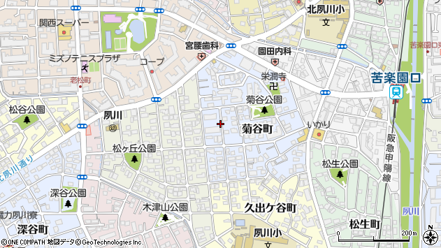 〒662-0078 兵庫県西宮市菊谷町の地図