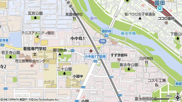 〒661-0972 兵庫県尼崎市小中島の地図