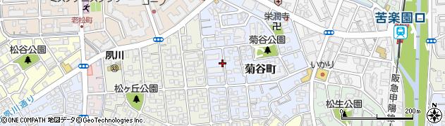 兵庫県西宮市菊谷町周辺の地図