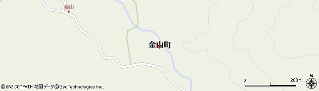 島根県益田市金山町周辺の地図