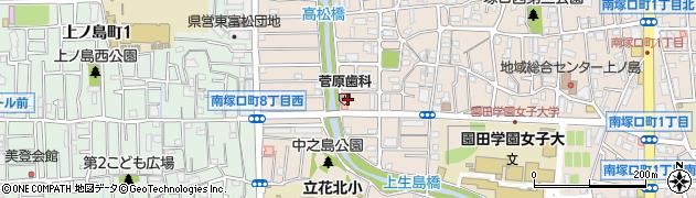 兵庫県尼崎市南塚口町8丁目周辺の地図