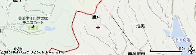 愛知県南知多町(知多郡)内海(雁戸)周辺の地図