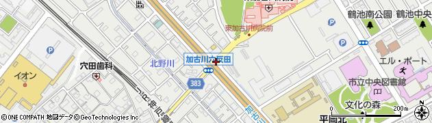 加古川六反田周辺の地図