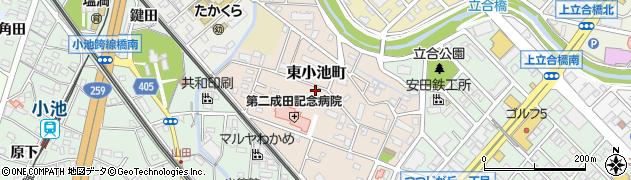愛知県豊橋市東小池町周辺の地図