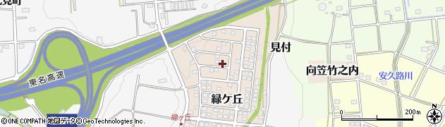 静岡県磐田市緑ケ丘周辺の地図