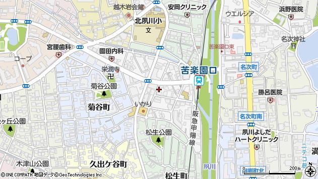 〒662-0075 兵庫県西宮市南越木岩町の地図