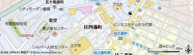 愛知県豊橋市柱四番町周辺の地図