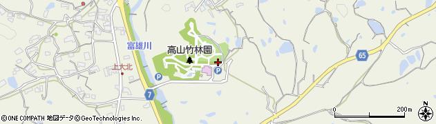 奈良県生駒市高山町周辺の地図