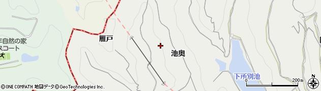 愛知県南知多町(知多郡)内海(池奥)周辺の地図