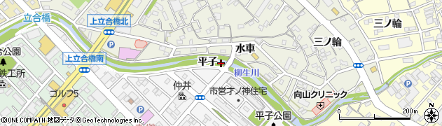 愛知県豊橋市佐藤町(平子)周辺の地図