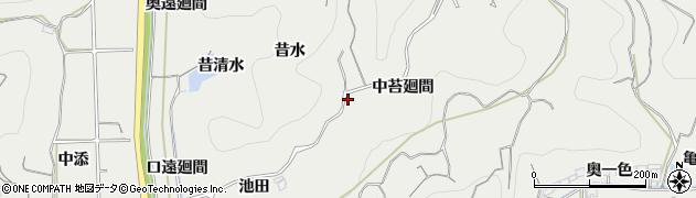 愛知県南知多町(知多郡)内海(昔水)周辺の地図