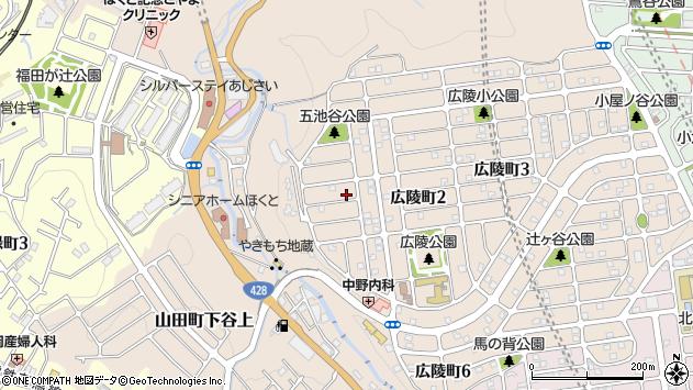 〒651-1213 兵庫県神戸市北区広陵町の地図