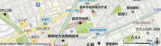 静岡県袋井市周辺の地図