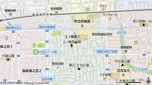 〒661-0014 兵庫県尼崎市上ノ島町の地図