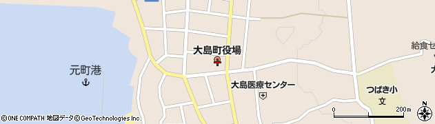 東京都大島町周辺の地図