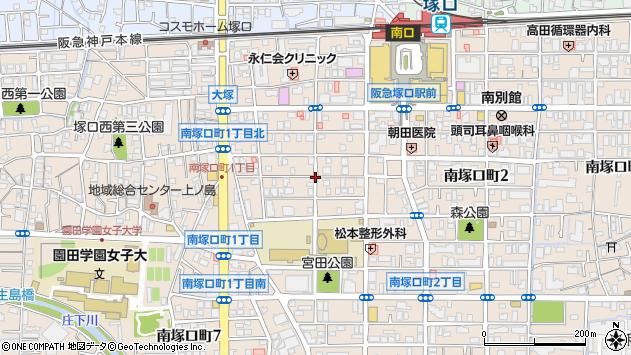 〒661-0012 兵庫県尼崎市南塚口町の地図