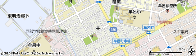 愛知県豊橋市牟呂中村町周辺の地図