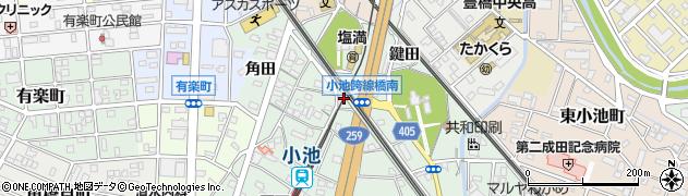 愛知県豊橋市小池町(西海戸)周辺の地図