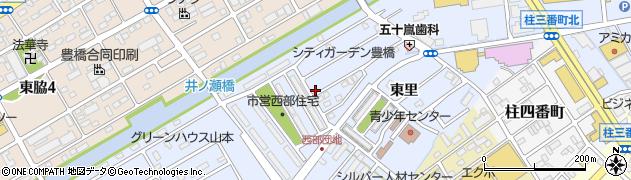 愛知県豊橋市牟呂町(中西)周辺の地図