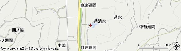 愛知県南知多町(知多郡)内海(昔清水)周辺の地図