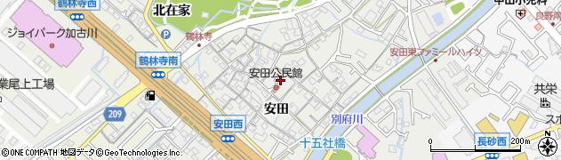 兵庫県加古川市尾上町(安田)周辺の地図