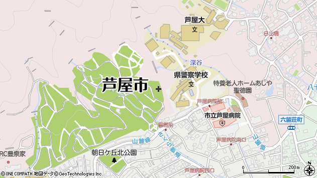 〒659-0001 兵庫県芦屋市剣谷の地図
