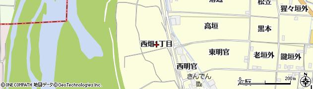 京都府木津川市山城町上狛(西畑1丁目)周辺の地図