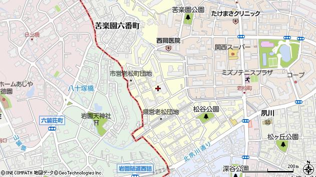 〒662-0085 兵庫県西宮市老松町の地図