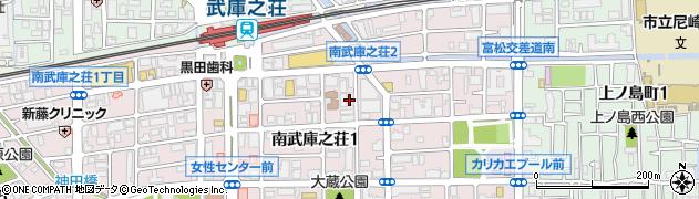 炭火焼肉ハマン周辺の地図