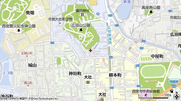 〒662-0867 兵庫県西宮市大社町の地図