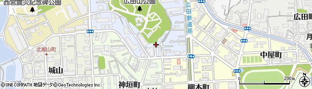 兵庫県西宮市大社町周辺の地図