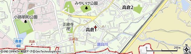 大阪府寝屋川市高倉周辺の地図
