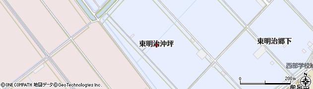 愛知県豊橋市牟呂町(東明治沖坪)周辺の地図