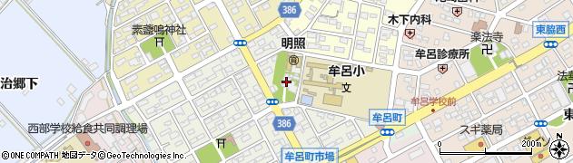 普仙寺周辺の地図