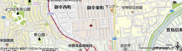 大阪府寝屋川市御幸東町周辺の地図