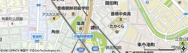愛知県豊橋市小池町(鍵田)周辺の地図