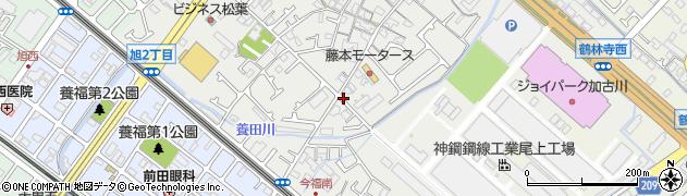 兵庫県加古川市尾上町(今福)周辺の地図